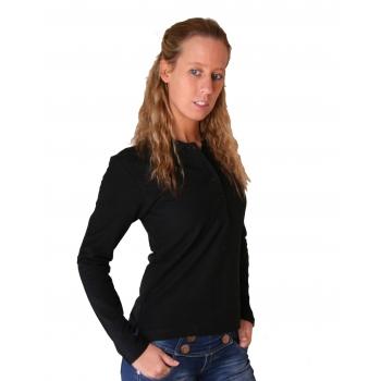 Poloshirt voor dames in de kleur zwart