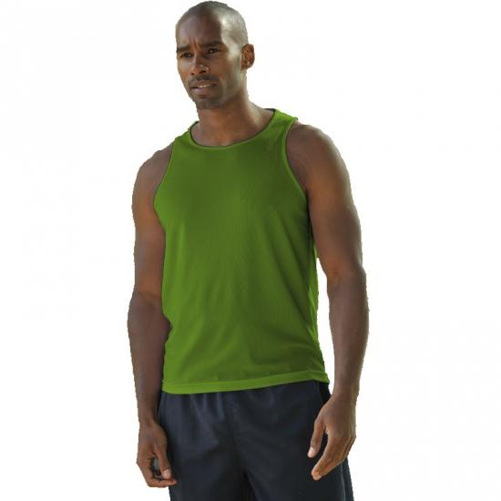 Polyester heren singlet groen