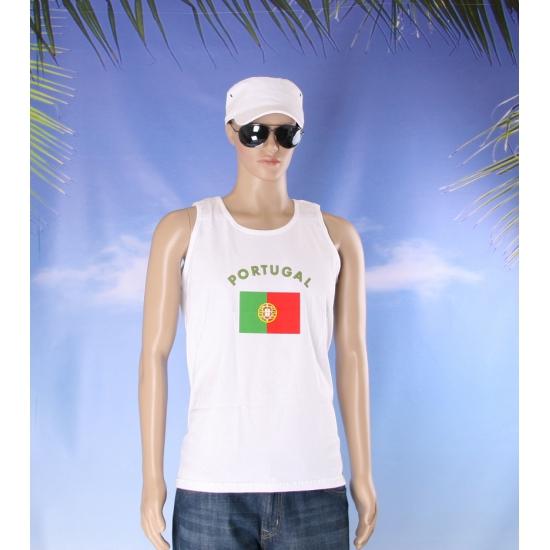 Portugal vlaggen tanktop/ t shirt