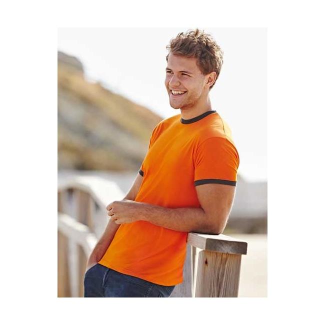 Ringer t shirt met contrast kleuren