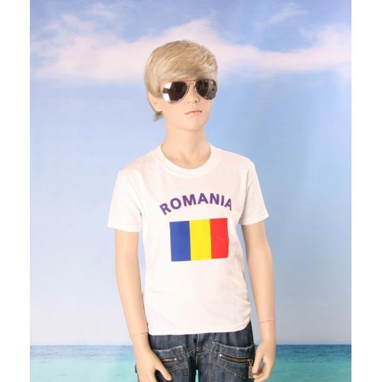 Roemeens vlaggen t shirt voor kinderen
