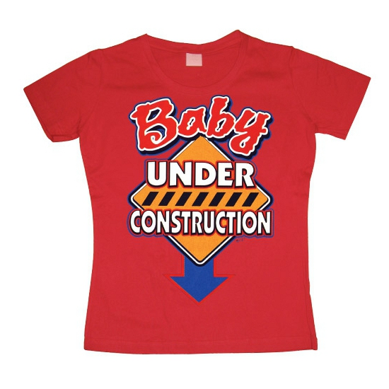 Rood Baby Under Construction girly t shirt