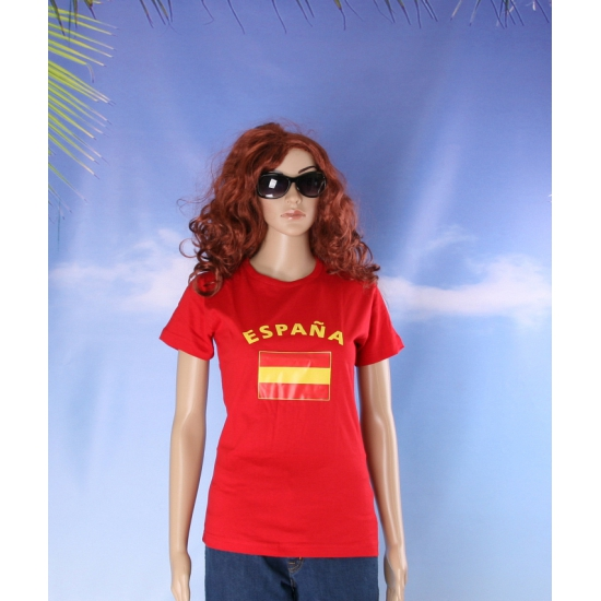 Rood dames t shirt Spanje