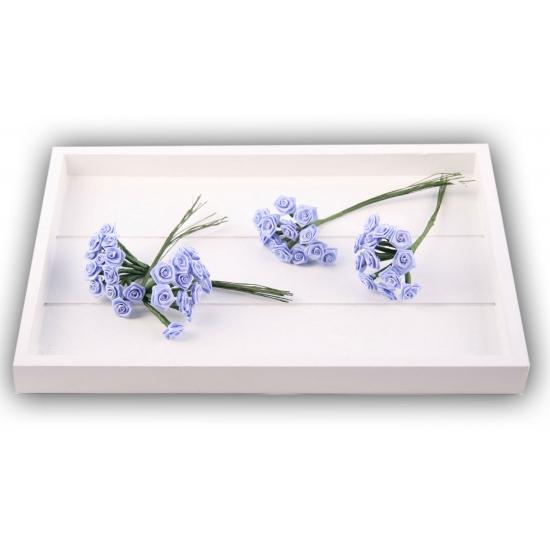 Rozen van satijn lila 12 cm
