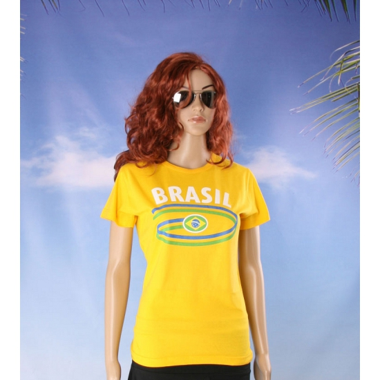Shirts met vlag van Brazilie dames
