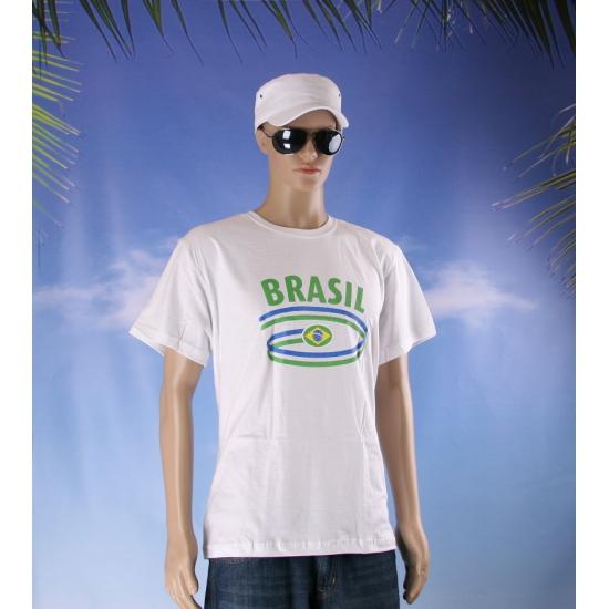 Shirts met vlaggen thema Brasil heren