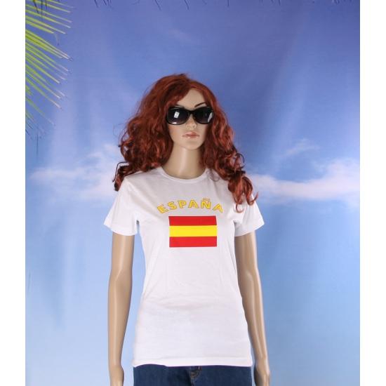 Spanje vlaggen t shirt voor dames
