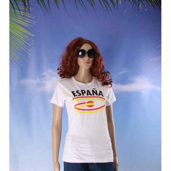 Spanje vlaggen t shirts voor dames