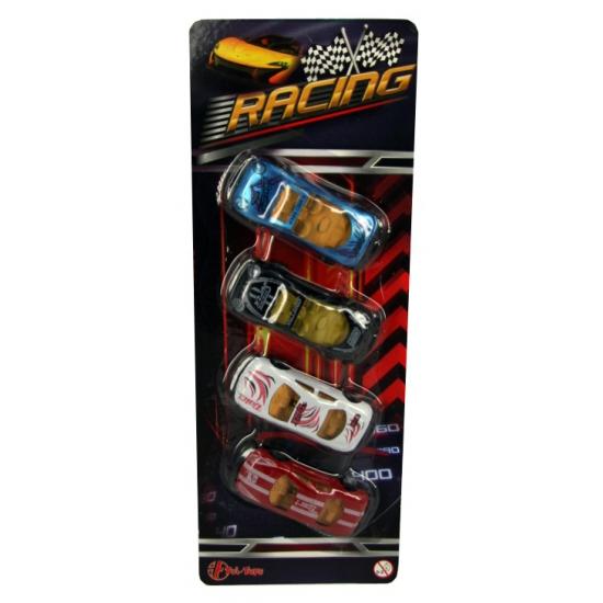 Speelgoed auto s van metaal 4 stuks