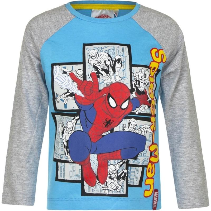 Spiderman t shirt blauw/grijs voor jongens