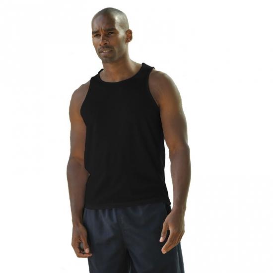 Sportief singlet voor heren zwart