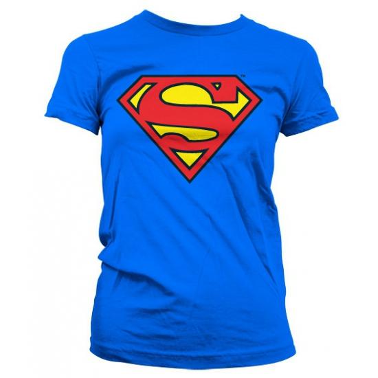 Superman logo kleding dames shirt