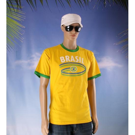 Supporters shirt Brasil geel