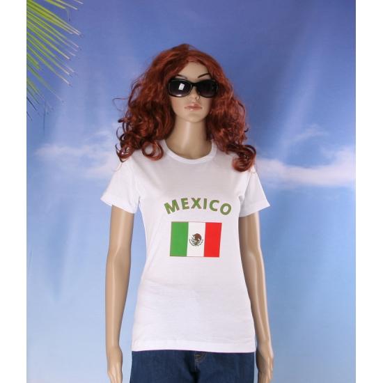 T shirt met Mexicaansevlag print voor dames