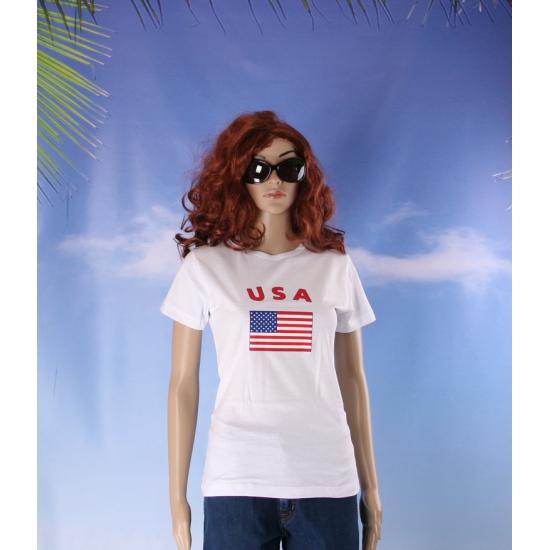 T shirt met USA vlag print voor dames