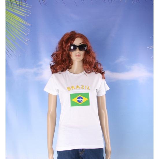 T shirt met vlag Brazilie print voor dames
