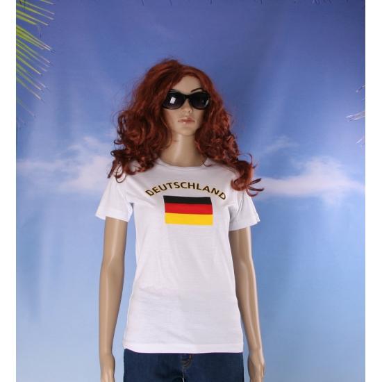 T shirt met vlag Duitsland print voor dames