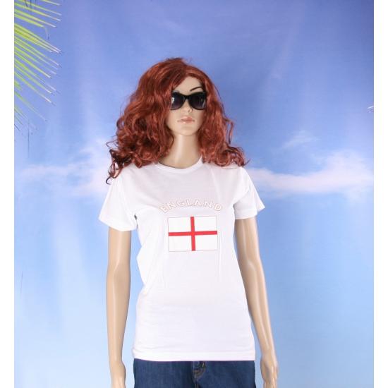 T shirt met vlag Engelse print voor dames