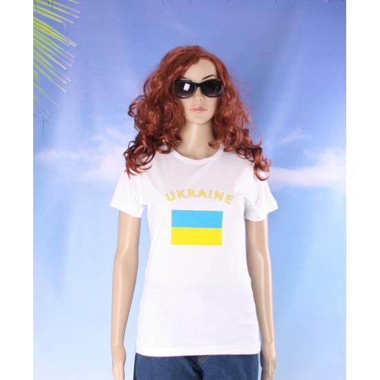 T shirt met vlag Oekraine print voor dames