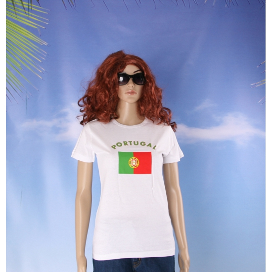 T shirt met vlag Portugese print voor dames