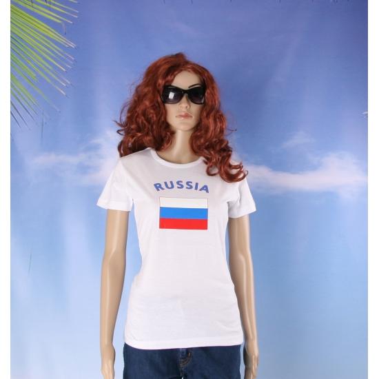T shirt met vlag Rusische print voor dames