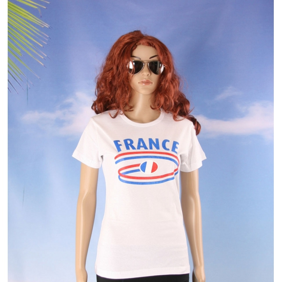 T shirts met France opdruk voor dames