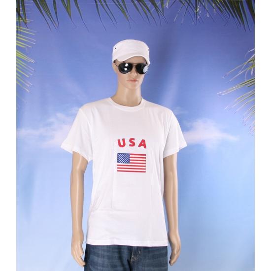 T shirts met USA vlag print