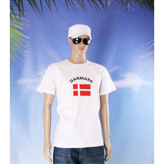 T shirts met vlag Denmark print