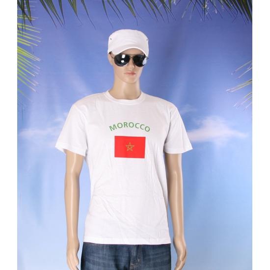 T shirts met vlag Marokko