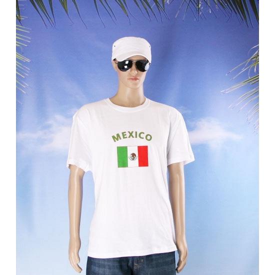 T shirts met vlag Mexico