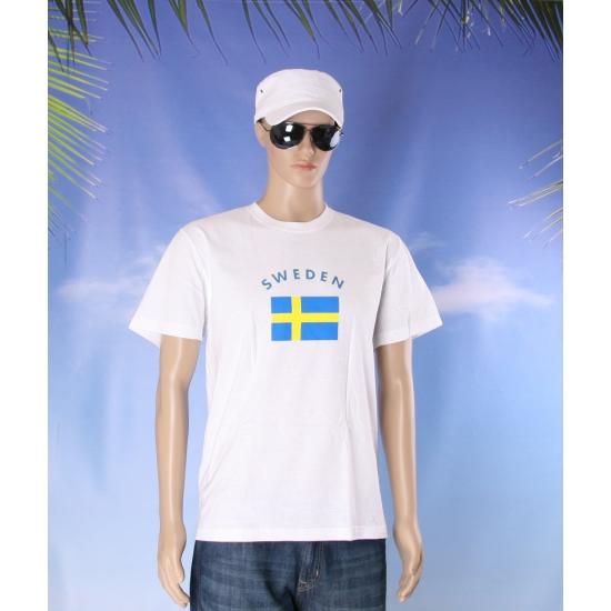 T shirts met vlag Sweden print