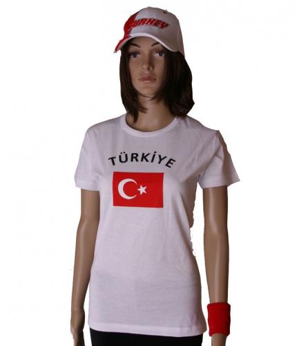 Turkse vlaggen t shirt voor dames