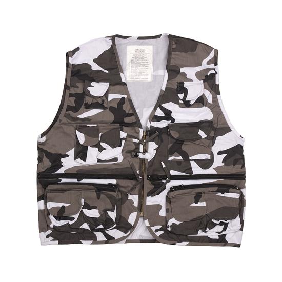 Urban camouflage vest voor heren