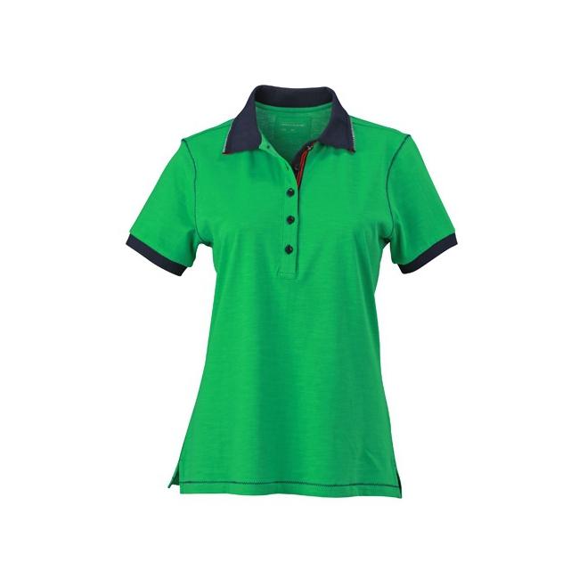 Urban dames poloshirt groen