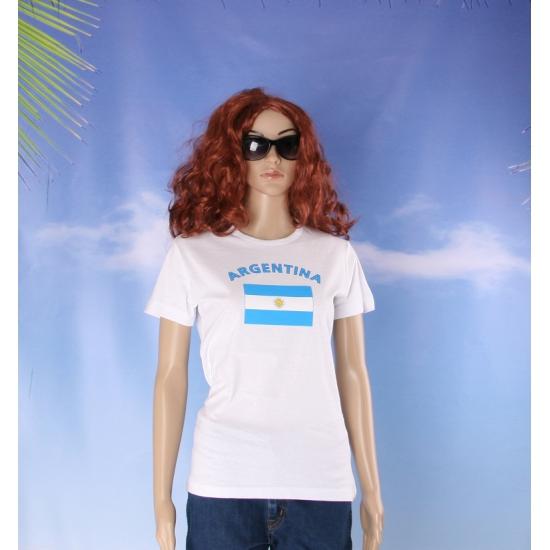 Wit dames t shirt Argentinie