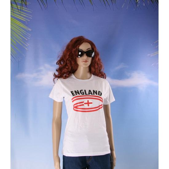 Wit dames t shirt Engeland