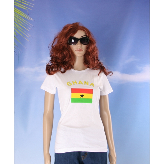 Wit dames t shirt Ghana
