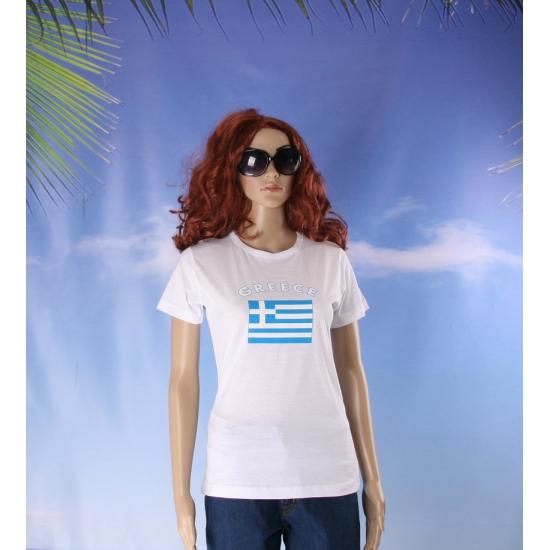 Wit dames t shirt Griekenland