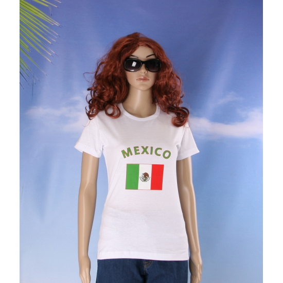 Wit dames t shirt Mexico