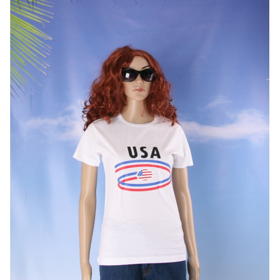 Wit dames t shirt USA