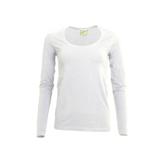 Wit damesshirt lange mouw