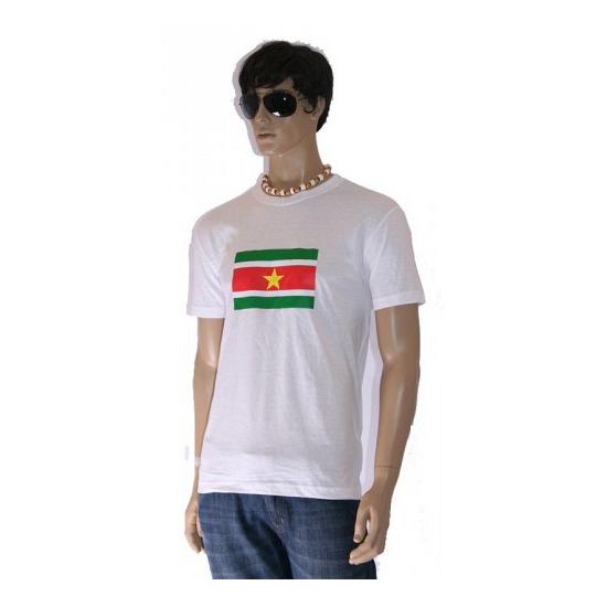 Wit grote maten shirt Suriname