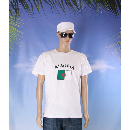 Wit heren t shirt Algerije