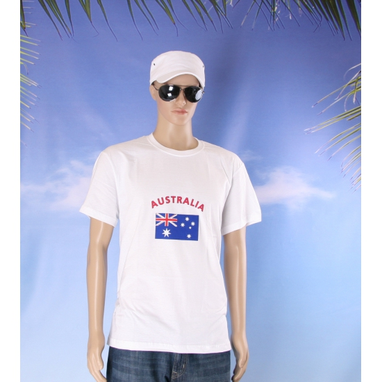 Wit heren t shirt Australie
