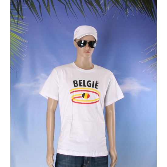 Wit heren t shirt Belgie