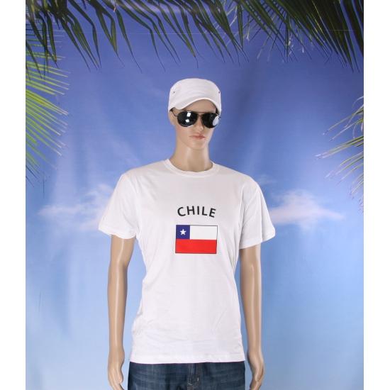 Wit heren t shirt Chili