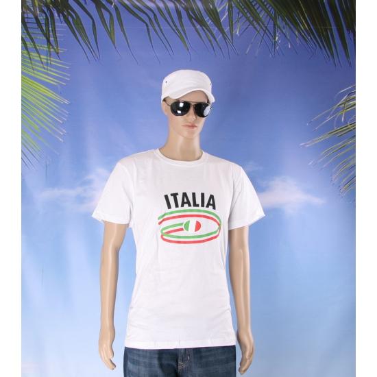 Wit heren t shirt Italie