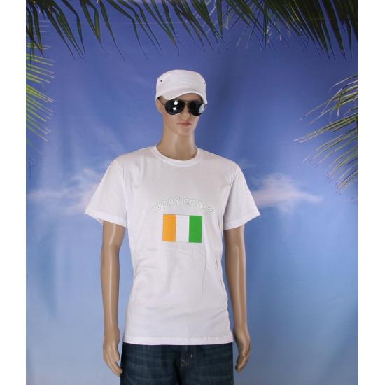Wit heren t shirt Ivoorkust