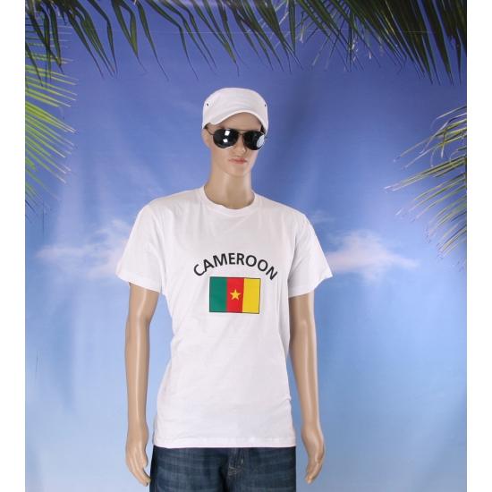 Wit heren t shirt Kameroen