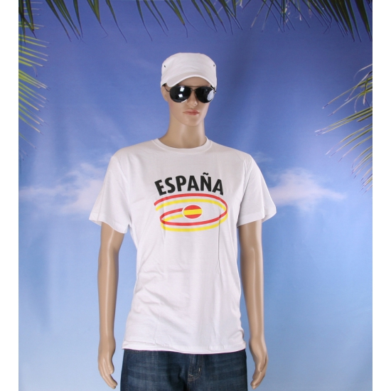 Wit heren t shirt Spanje